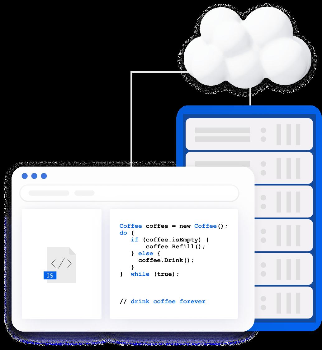 Server-side website development services